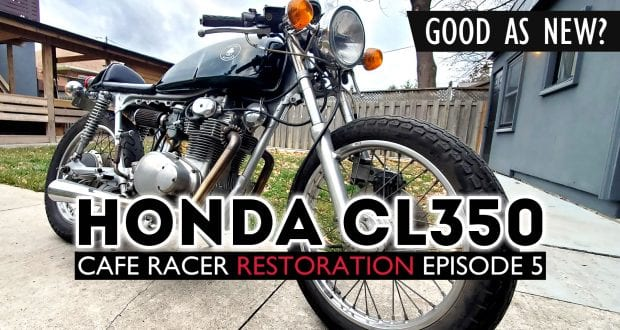 1973 Honda CL350 Cafe Racer test ride review