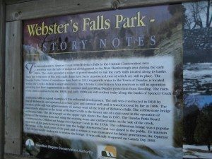 Welcome to lovely Webster's Falls Park!
