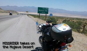 MISSRIDER takes on the Mojave Desert