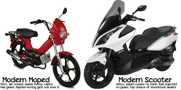 mopeds vs scooters