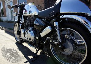 royal enfield cafe racer back