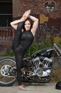 Motorcycle Contortionist Gabriella