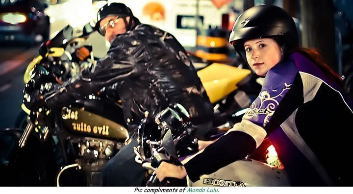 young motorcyclists