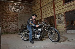 Mark Gornik at the Motorcycle Contortionists Photoshoot