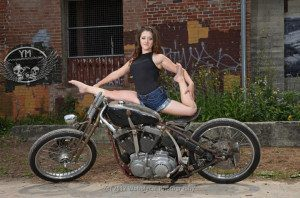 Gabby_DB at the Motorcycle Contortionists Photoshoot