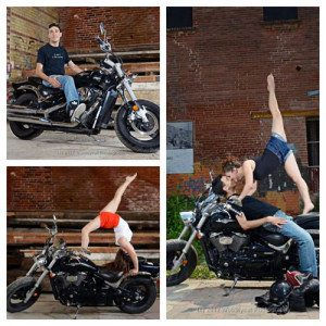 motorcyclist contortionist