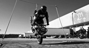 Motorcycle Stoppie