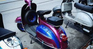 Vespa scooter parking
