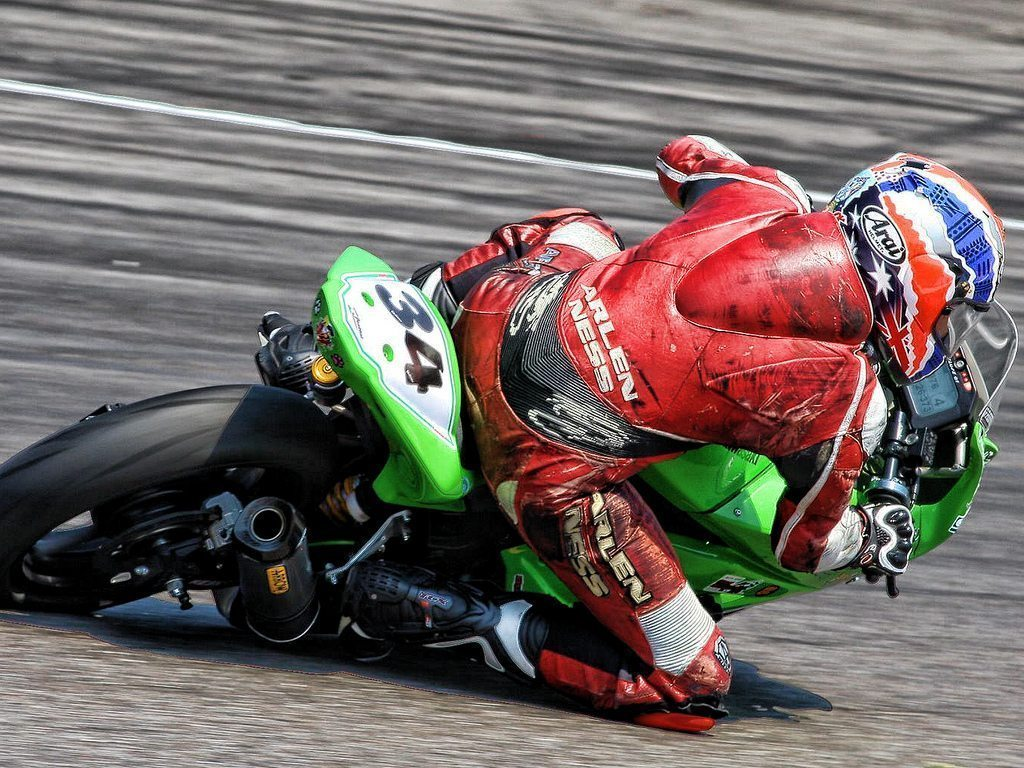 Motorcycle track racer