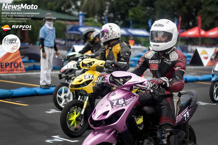 Racing scooters in the Philippines