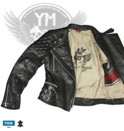 Fly Angel Ladies Motorcycle Jacket - Inside