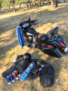 2017 Indian Chieftain Dark Horse travel gear