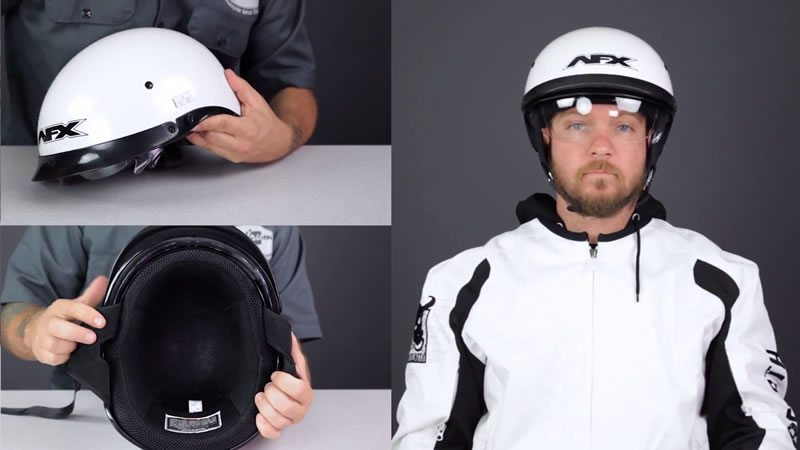 AFX FX200 Dual Shield Motorcycle Helmet