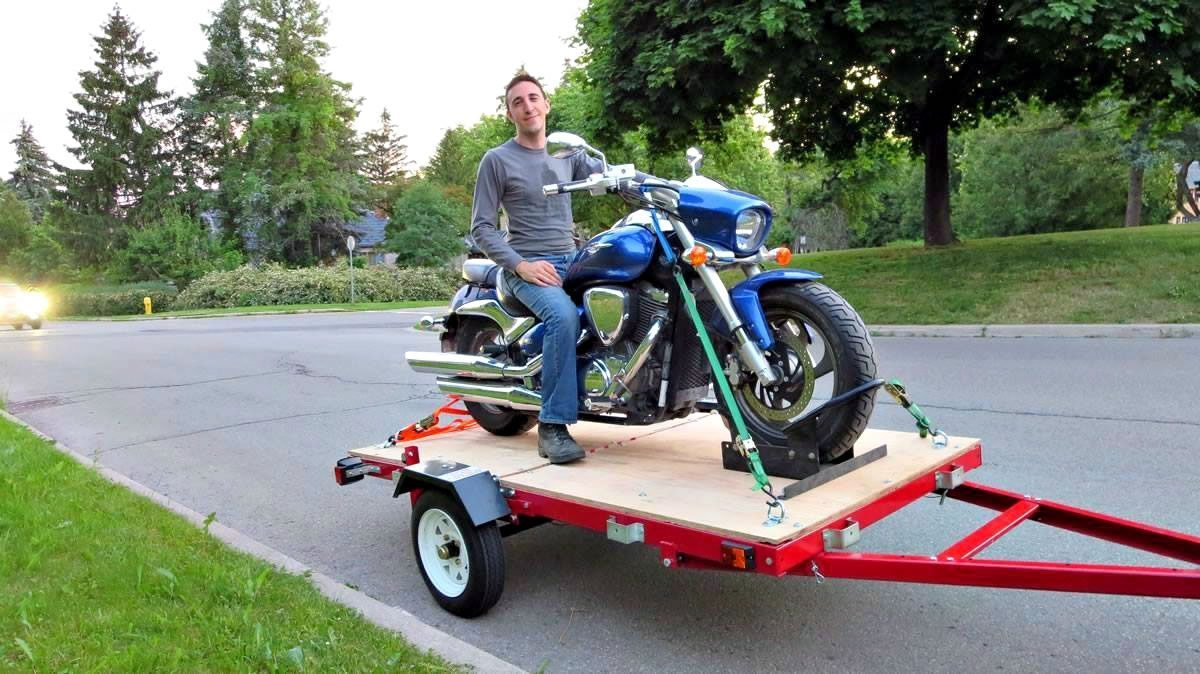 Adrian - With my bike on the trailer I built