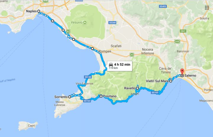 Amalfi coast motorcycle ride