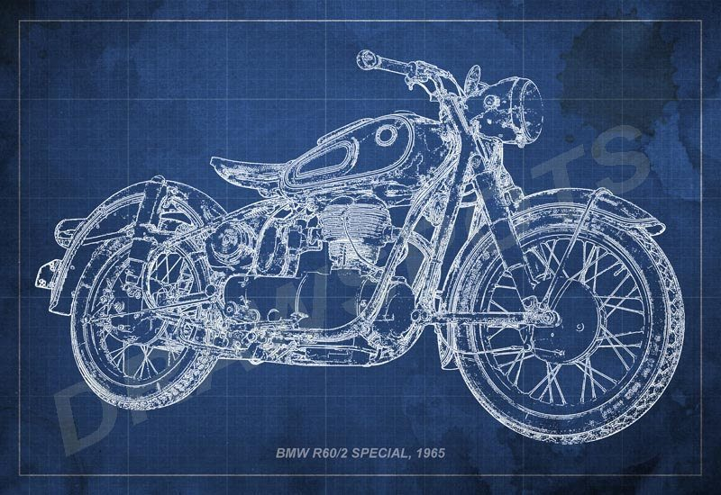 BMW R60/2 Special 1965 Blueprint