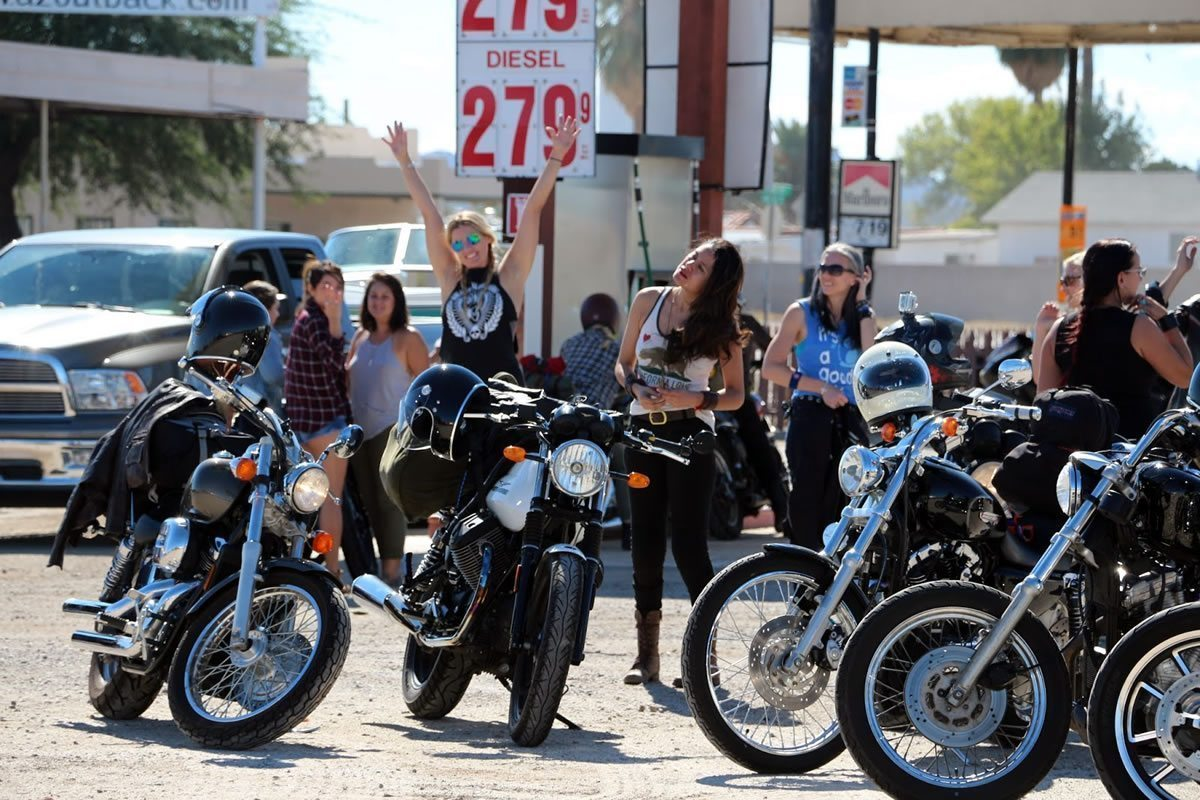 Babes Ride Out - Gas Station