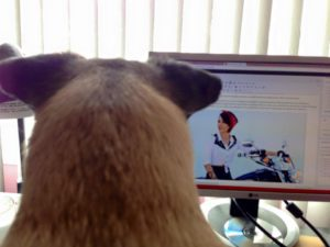 Biker Pup proofing the latest Victoria Merideth story