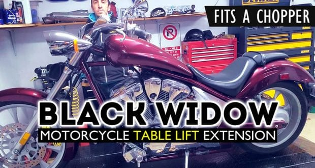 BlackWidow Pneumatic Table Lift Front Extension Installation