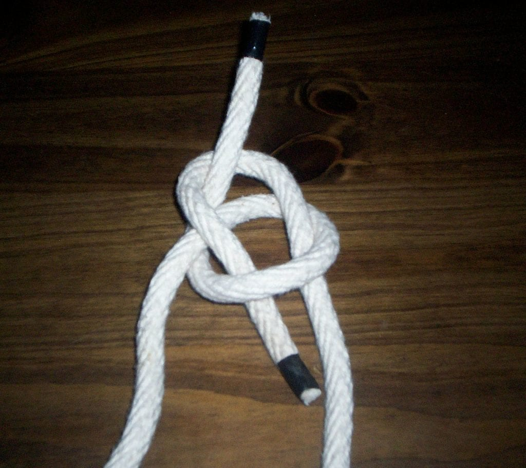 Bowline Step 4 - Run the rabbit back into his hole