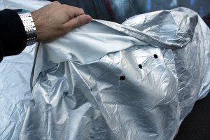 CarCovers Motorcycle Cover Review - Mirror Flap Ventilation