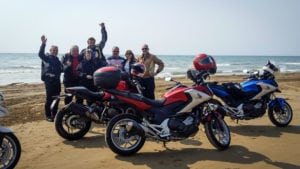 Chirihama Nagisa beach motorcycle ride