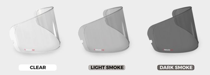 Clear - Light Smoke - Dark Smoke Visors