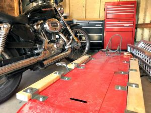 DIY Motorcycle Table Lift Side Extensions