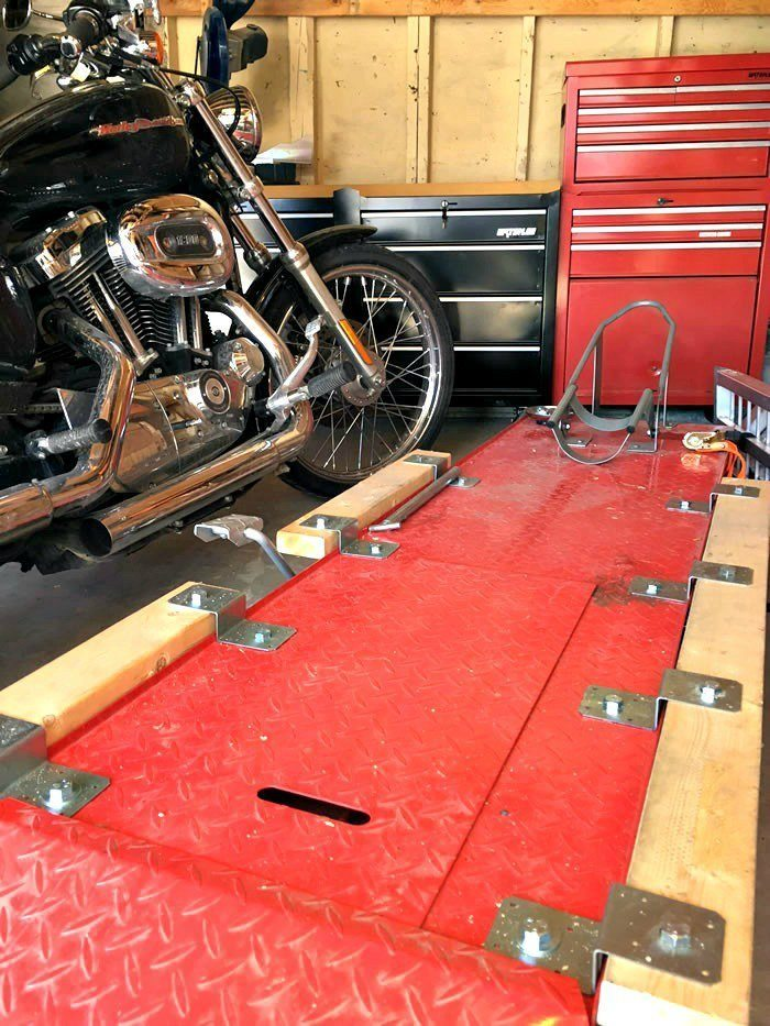 DIY Motorcycle Table Lift Side Extensions - Instructions