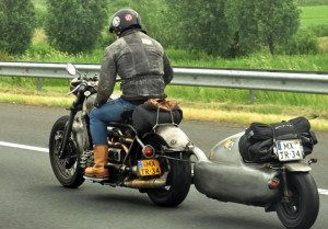 One Wheel Motorcycle Trailer
