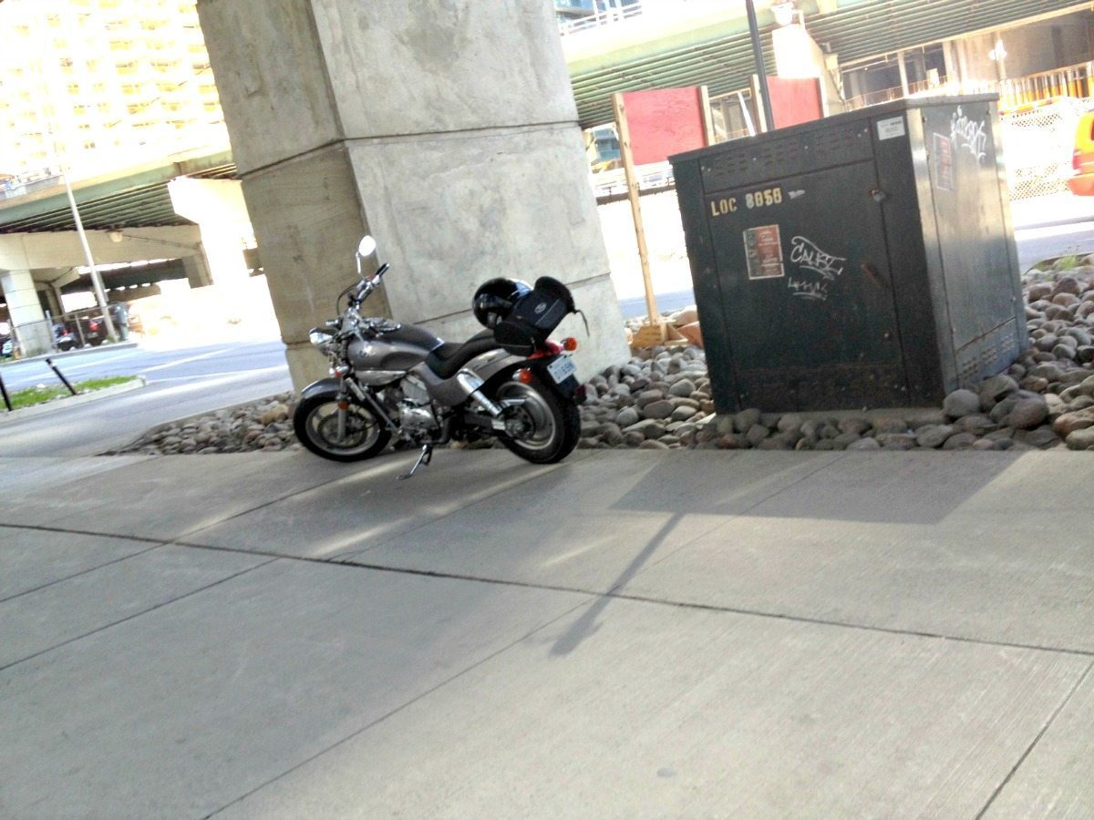 Downtown Toronto motorcycle parking