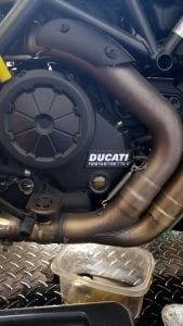 Ducati Diavel oil change - after