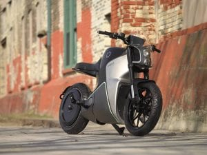 FUELL Flow electric motorcycle - front quarter right