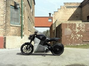 FUELL Flow electric motorcycle left side