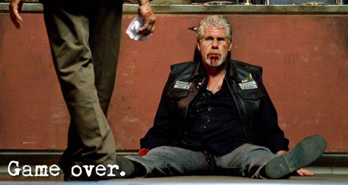 Game Over - Sons of Anarchy - Clay Killed