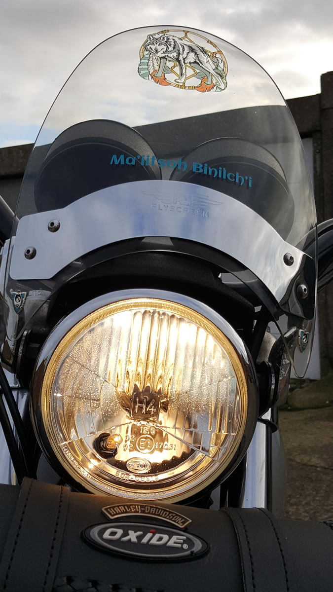 Harley-Davidson SuperGlide headlight