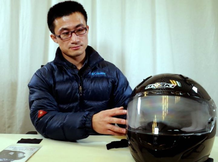 Helmet with WeePro Anti-fog Visor Insert