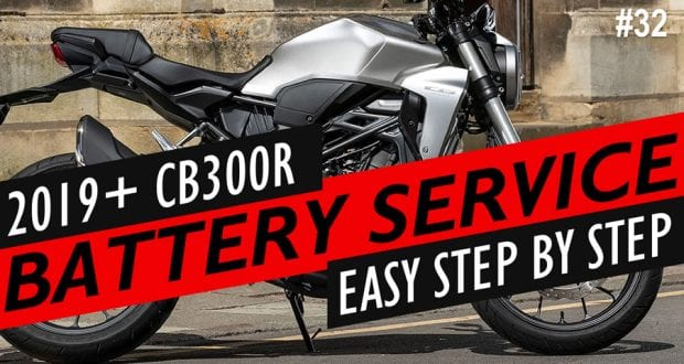 Honda CB300R battery location and service