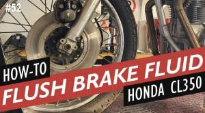 Honda CL350 Cafe Racer Part 2 How to Bleed the Brakes