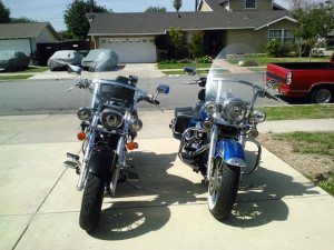 Honda VTX1300 and Harley-Davidson Road King