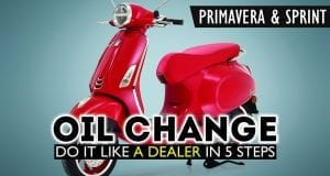 How To Change the Oil & Filter on a Vespa Primavera or Vespa Sprint