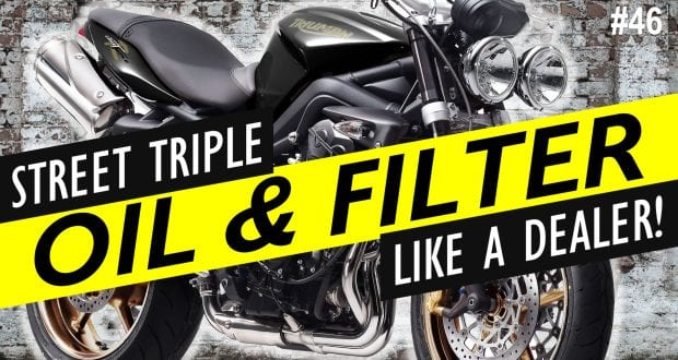 How To: Change the Oil on a Triumph Street Triple R