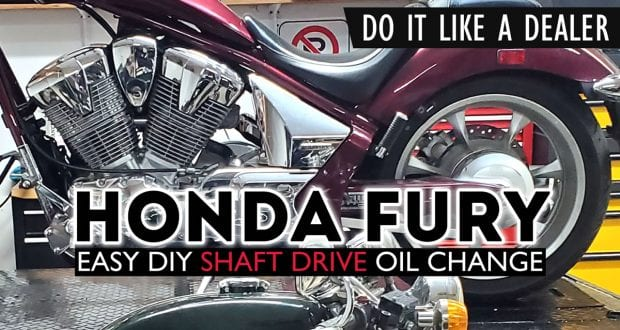 How To Honda Fury Shaft Drive Oil Change - Final Gear Oil Change