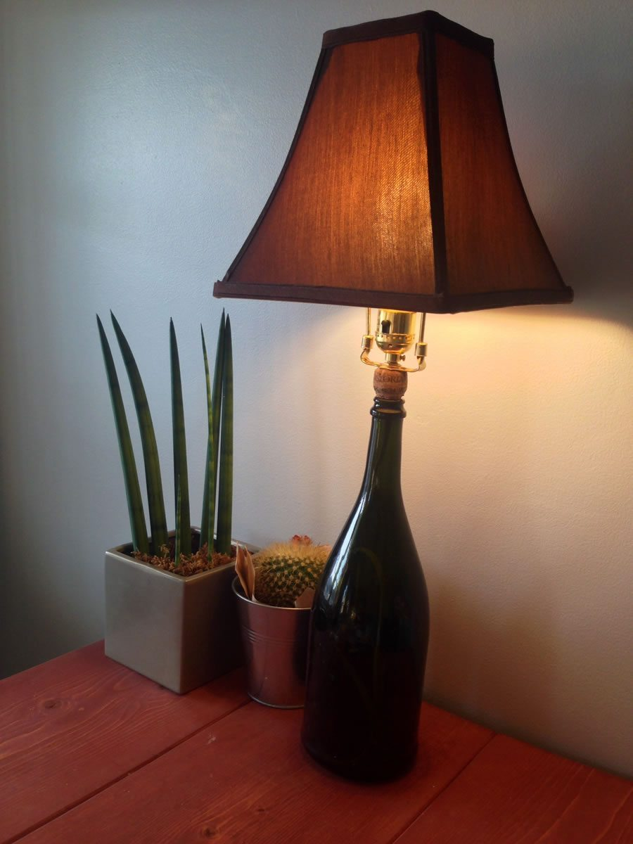 How to Build a Champagne Bottle Lamp - Complete