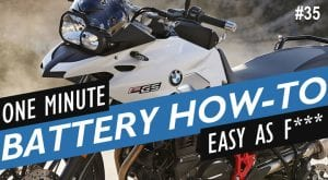 How to Replace the Battery on a BMW F700GS