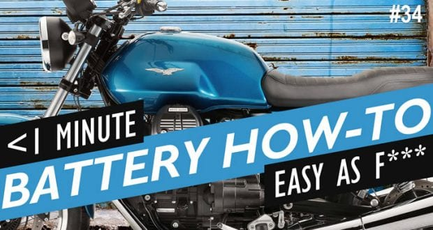 How to Replace the Battery on a Moto Guzzi V7