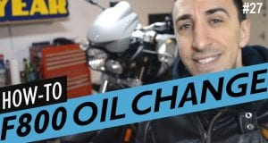 How to do an Oil Change on the BMW F800R – The Proper Way