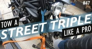 How to tow a Triumph Street Triple motorcycle