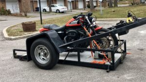 Motorcycle Towing Toronto - Harley on trailer