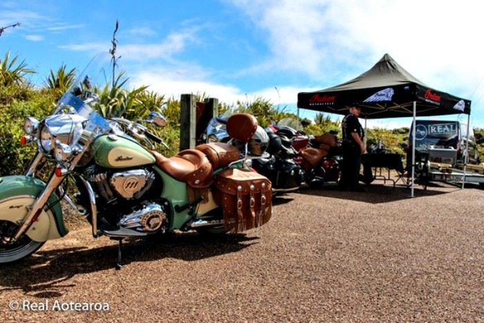 Indian Motorcycles on a break in New Zealand